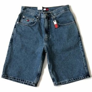 Tommy Hilfiger Jean Shorts Spell Out Box Flag Logo